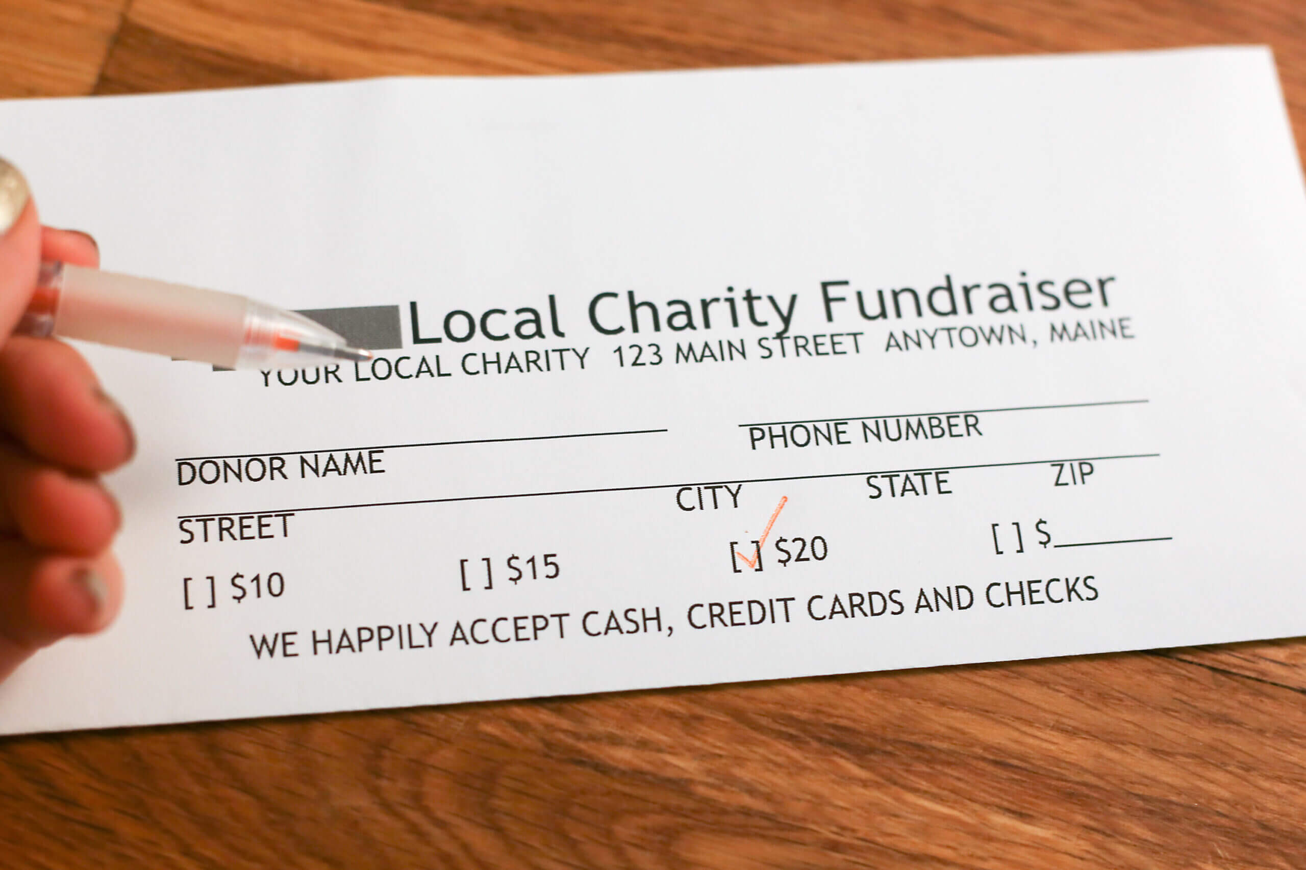 How To Create Pledge Cards For Fundraising Pledge Card Template
