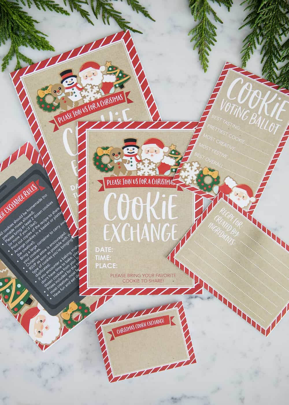 How To Host A Cookie Exchange (W/ Free Printables!) - I Pertaining To Cookie Exchange Recipe Card Template