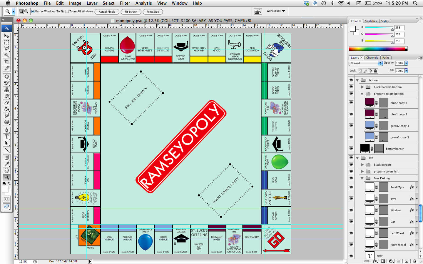 How To, How Hard, And How Much: How To Make A Personalized In Monopoly Property Cards Template
