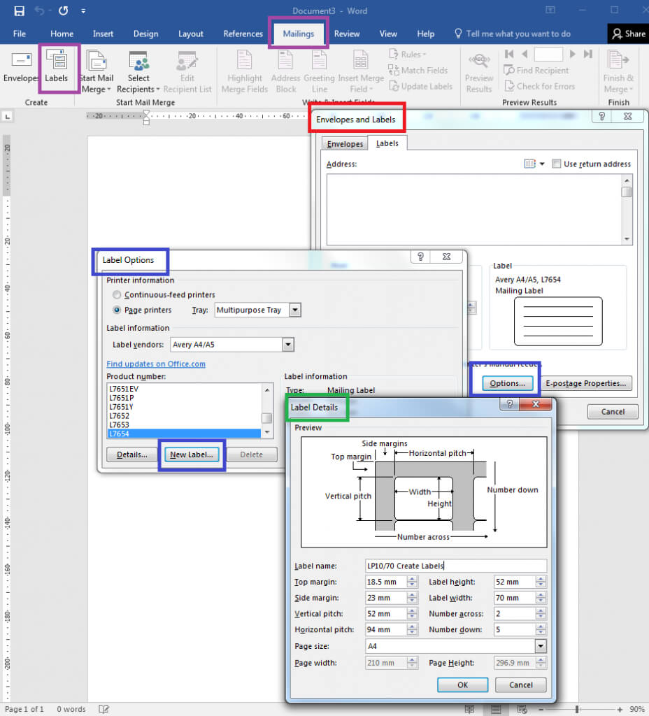 How To – How To Create Your Own Label Templates In Word Intended For Word Label Template 8 Per Sheet