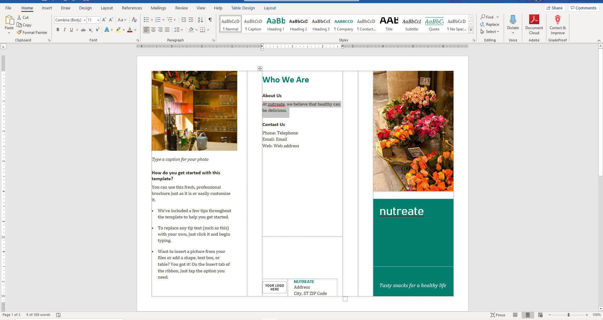 How To Make A Brochure On Microsoft Word In Brochure Template On Microsoft Word