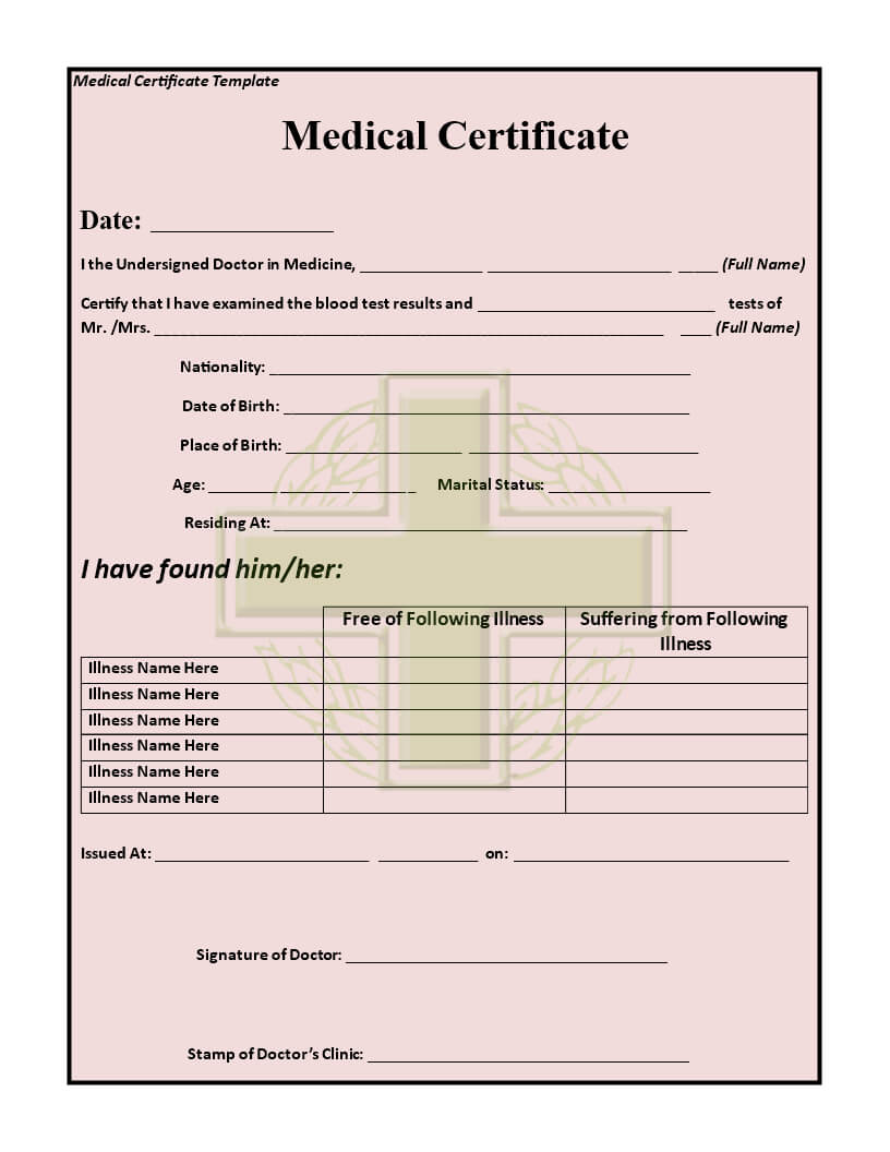 How To Make A Medical Certificate - Yatay.horizonconsulting.co Regarding Free Fake Medical Certificate Template