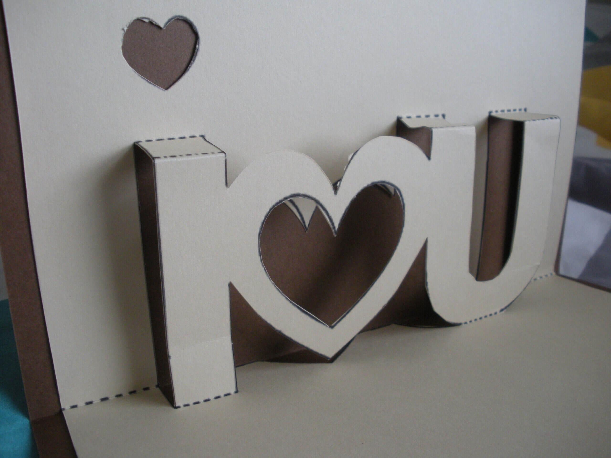 I Love You | Twenty One Inside I Love You Pop Up Card Template