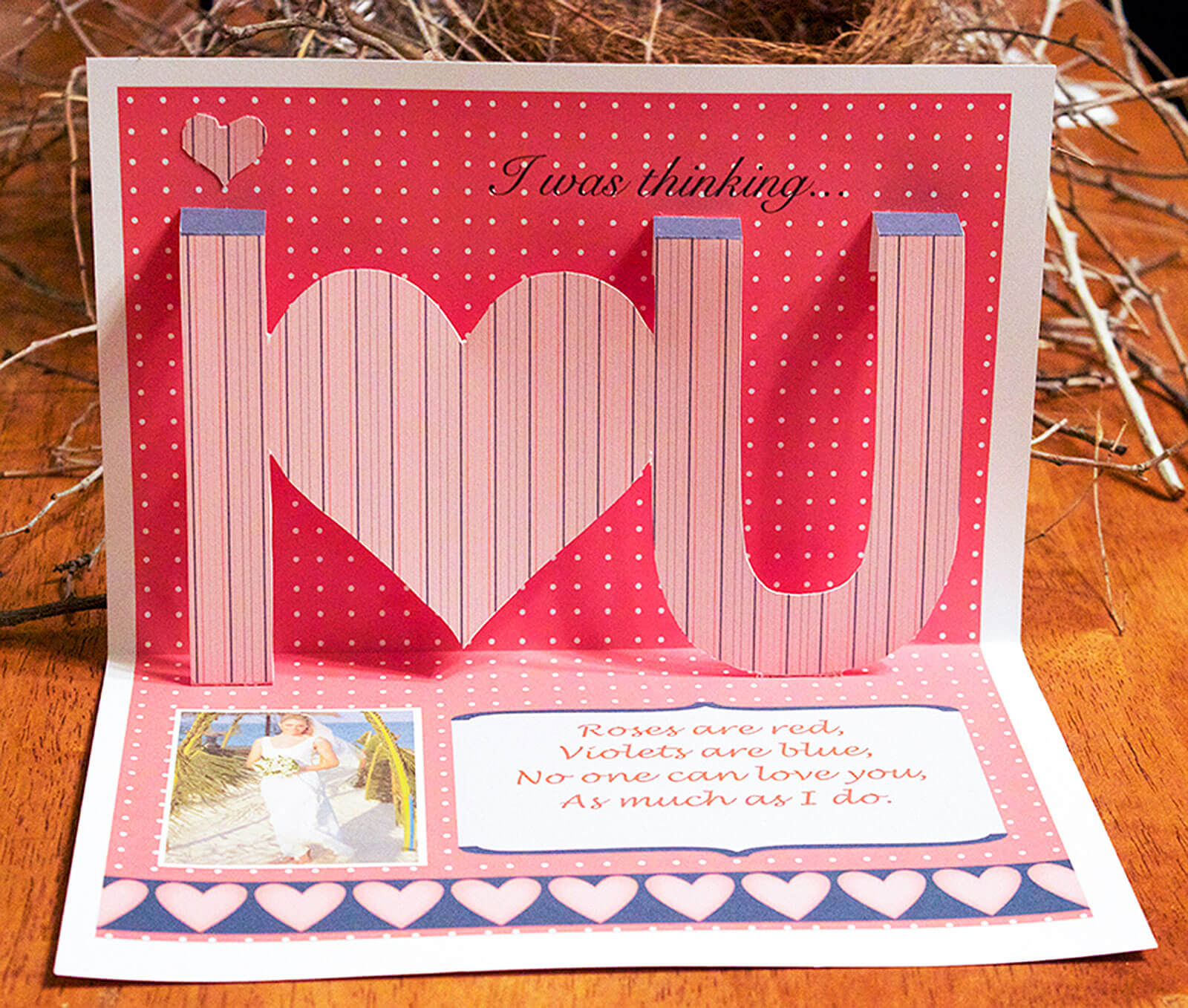 Ideas For Making Homemade Pop Up Cards | Lovetoknow With I Love You Pop Up Card Template