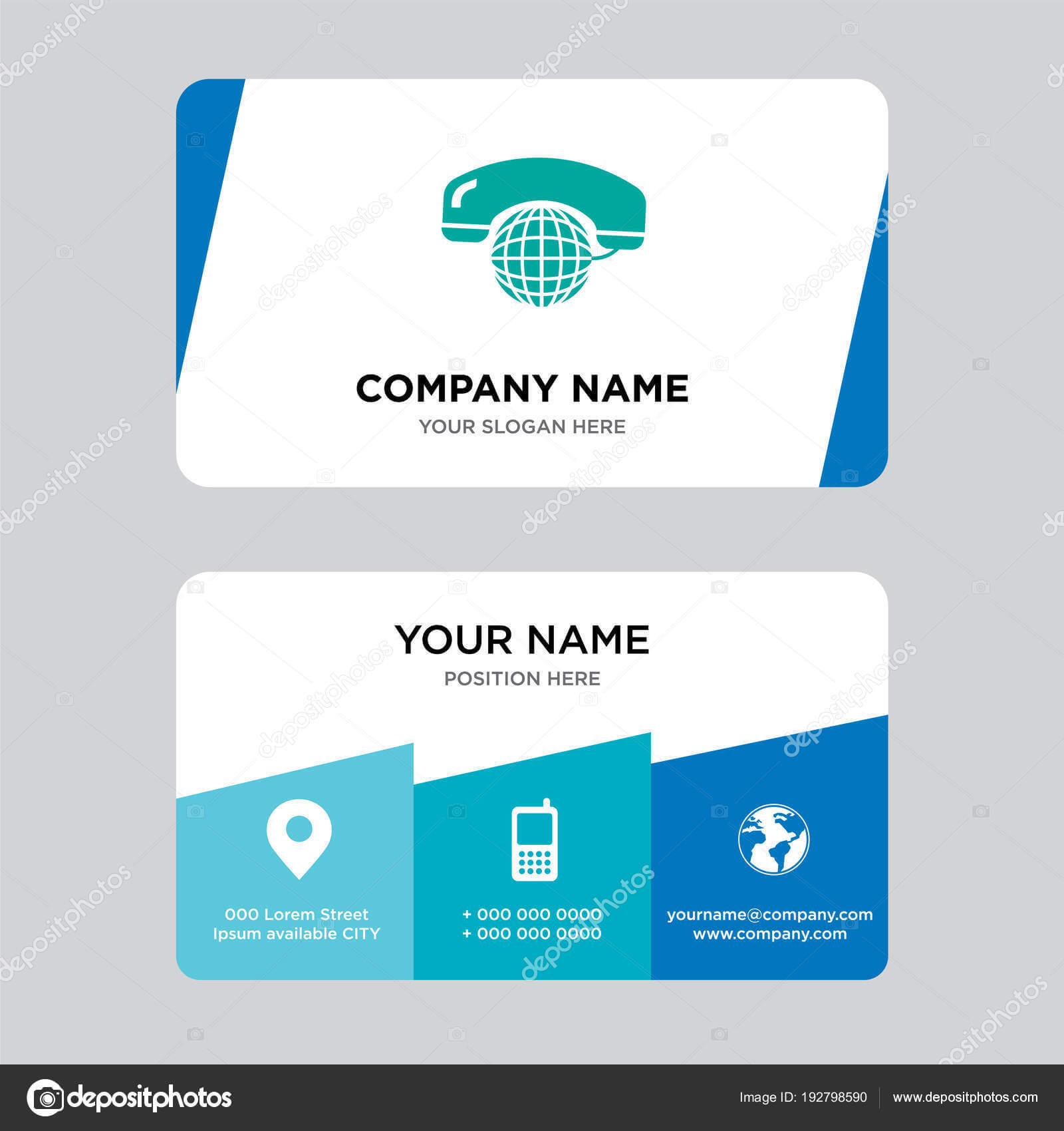 International Calling Service Business Card Design Template Pertaining To Template For Calling Card