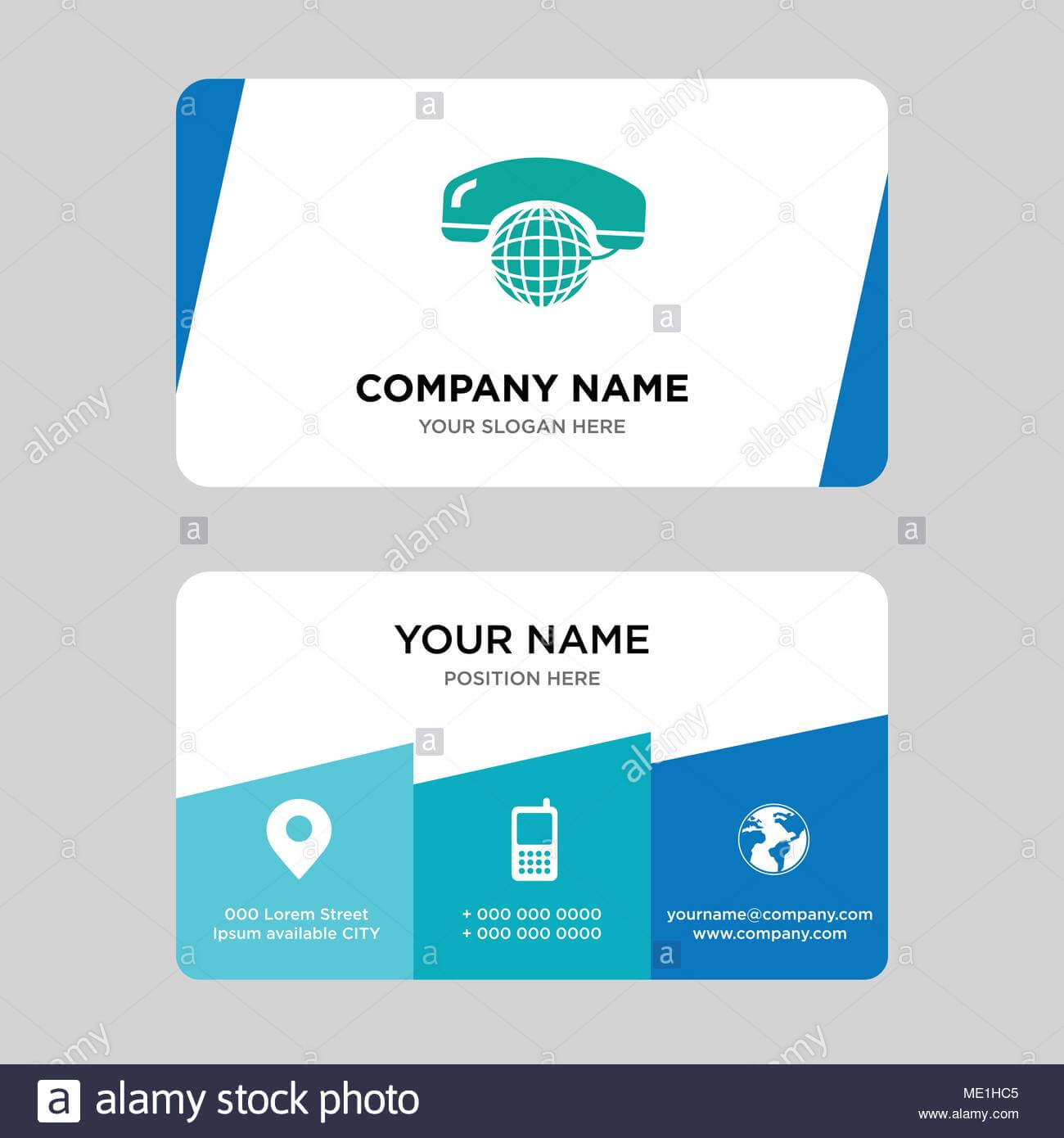 International Calling Service Business Card Design Template With Regard To Call Card Templates