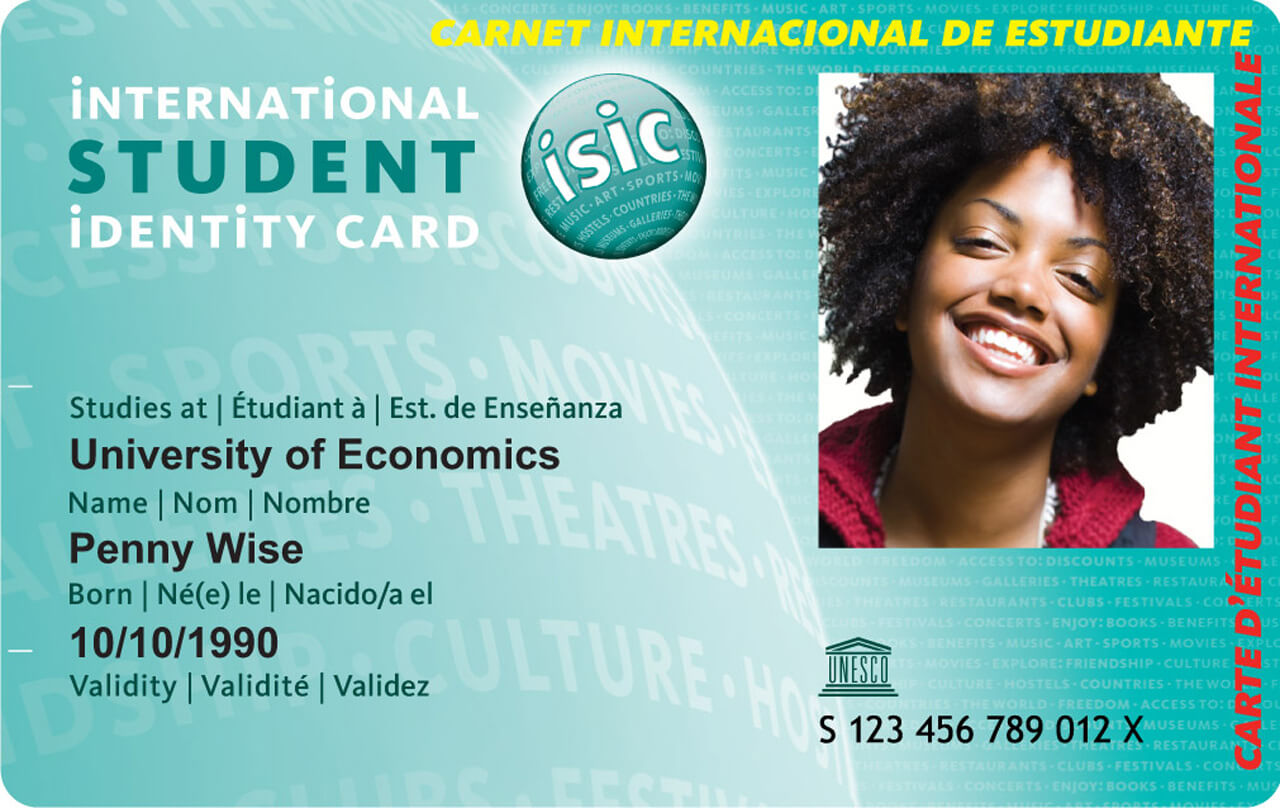 International Student Card Inside Isic Card Template