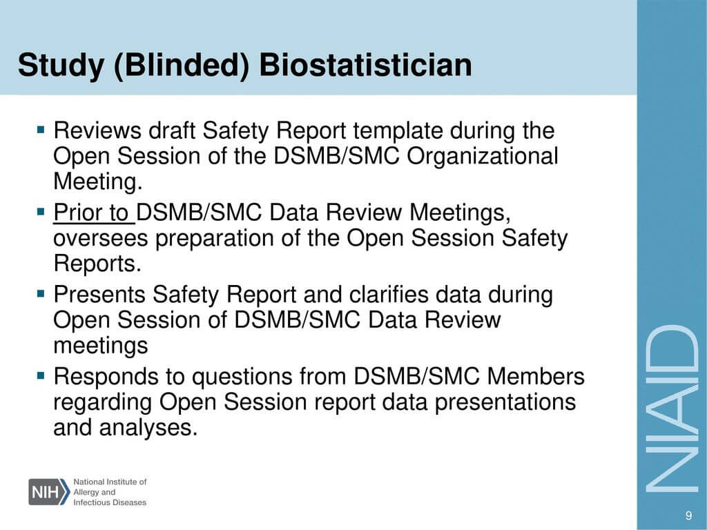 Investigator Training – Ppt Download Pertaining To Dsmb Report Template