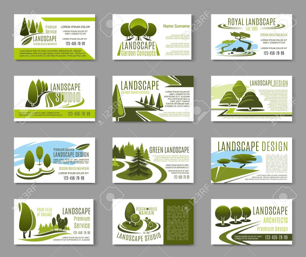 Landscape Design Studio Business Card Template Throughout Landscaping Business Card Template