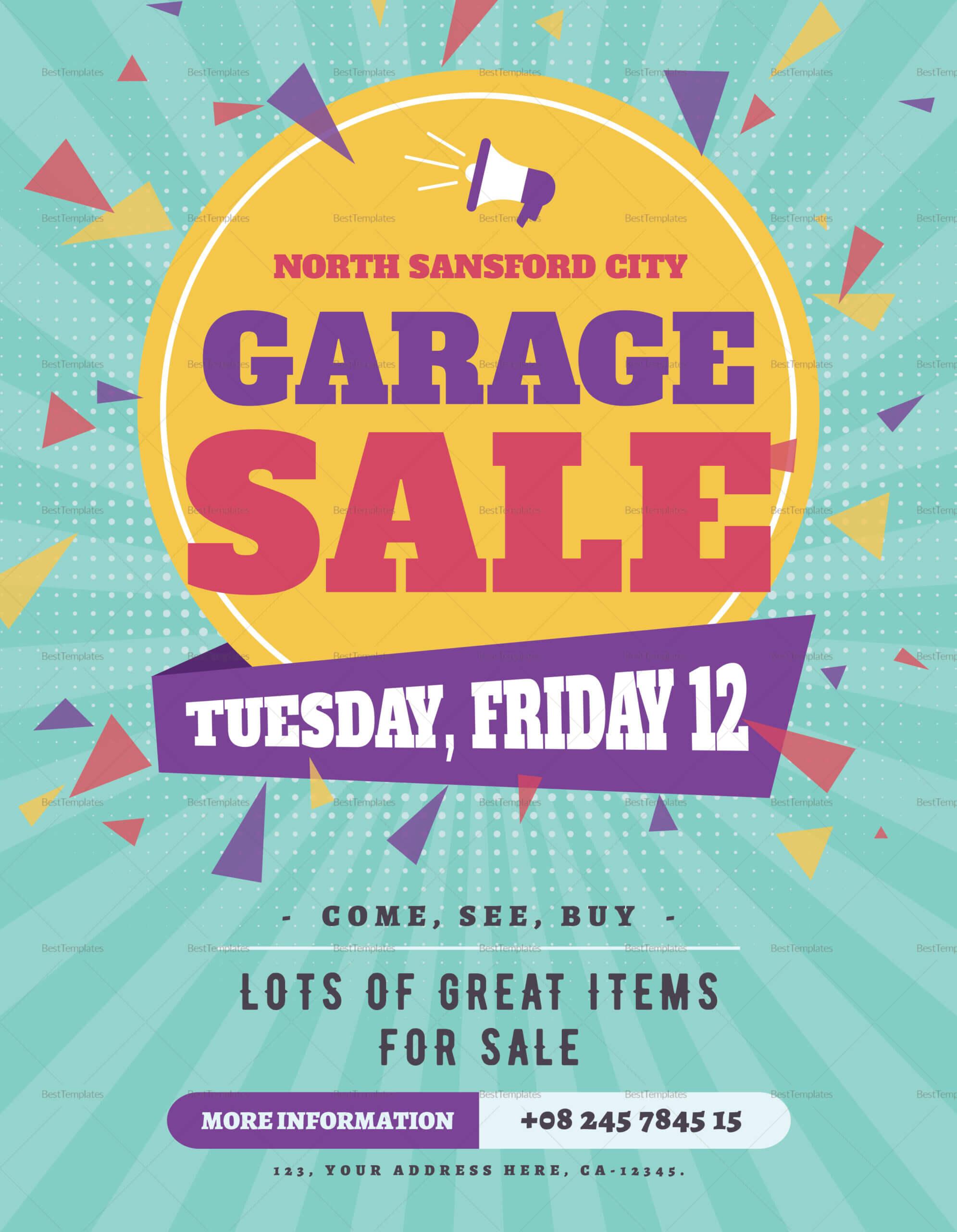 Large Garage Sale Flyer Template For Garage Sale Flyer Template Word