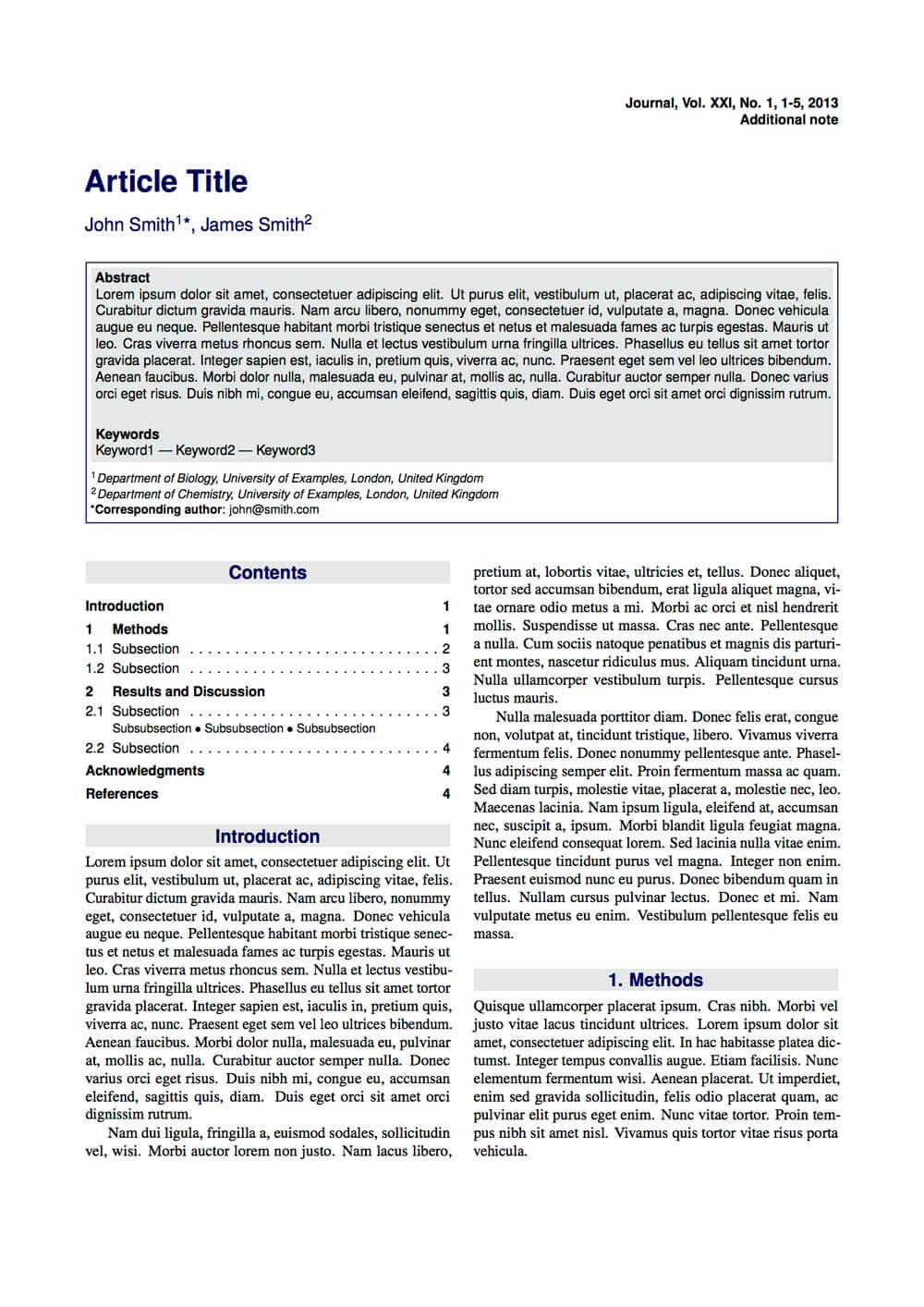 Latex Typesetting - Showcase Pertaining To Technical Report Template Latex