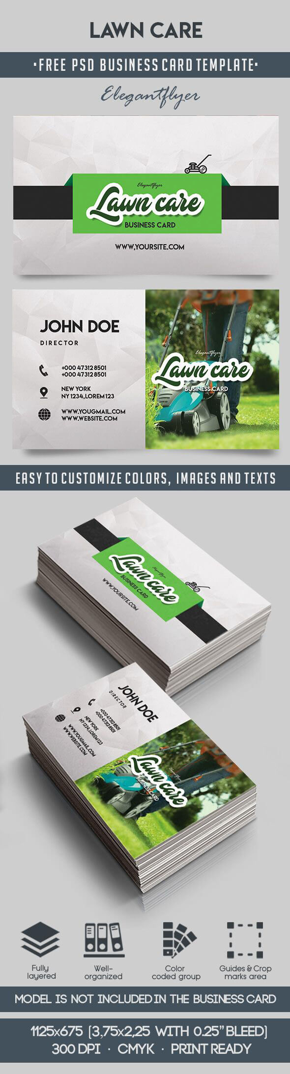 Lawn Care – Free Business Card Templates Psd On Behance Intended For Lawn Care Business Cards Templates Free