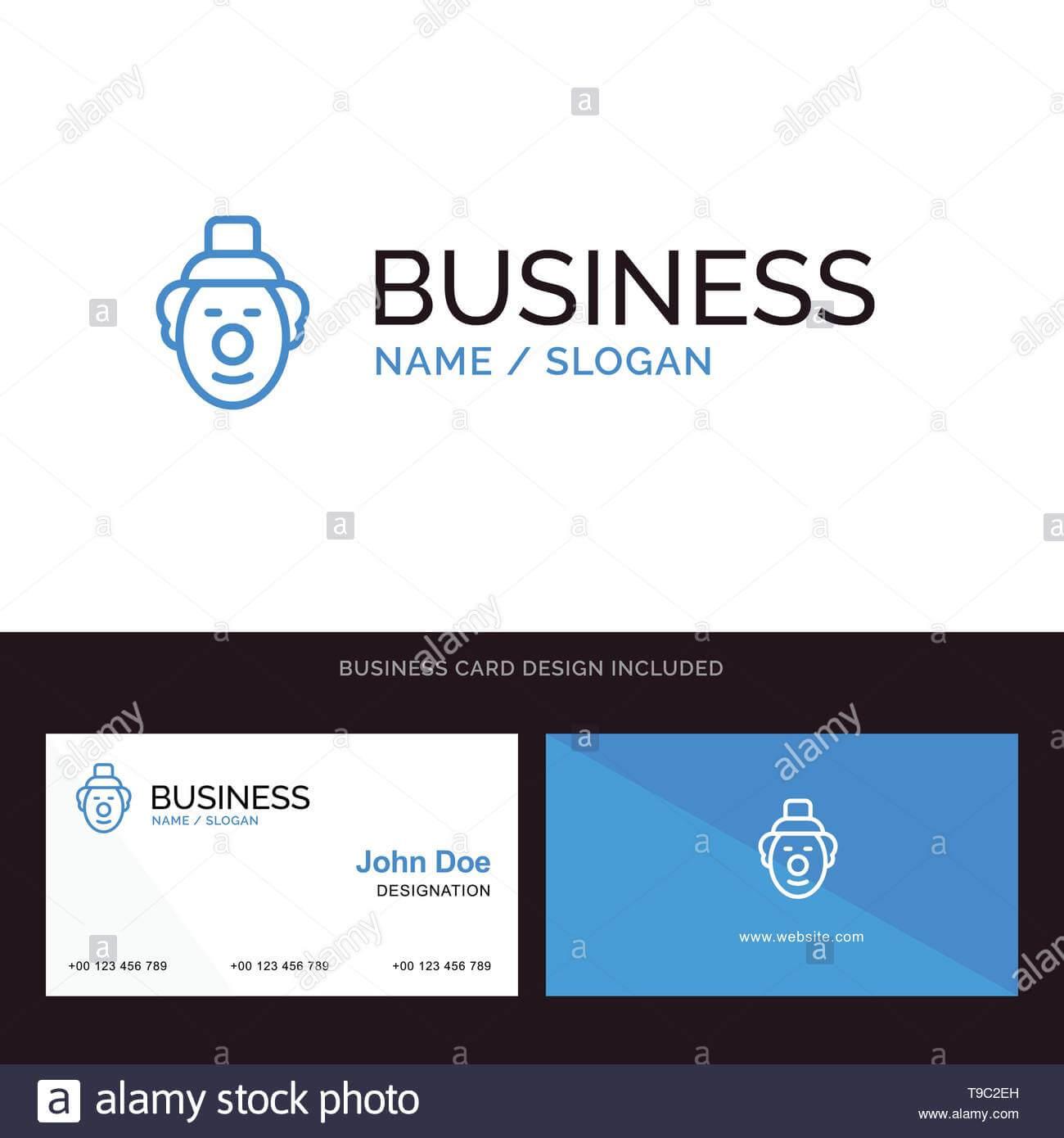 Logo And Business Card Template For Joker, Clown, Circus In Joker Card Template