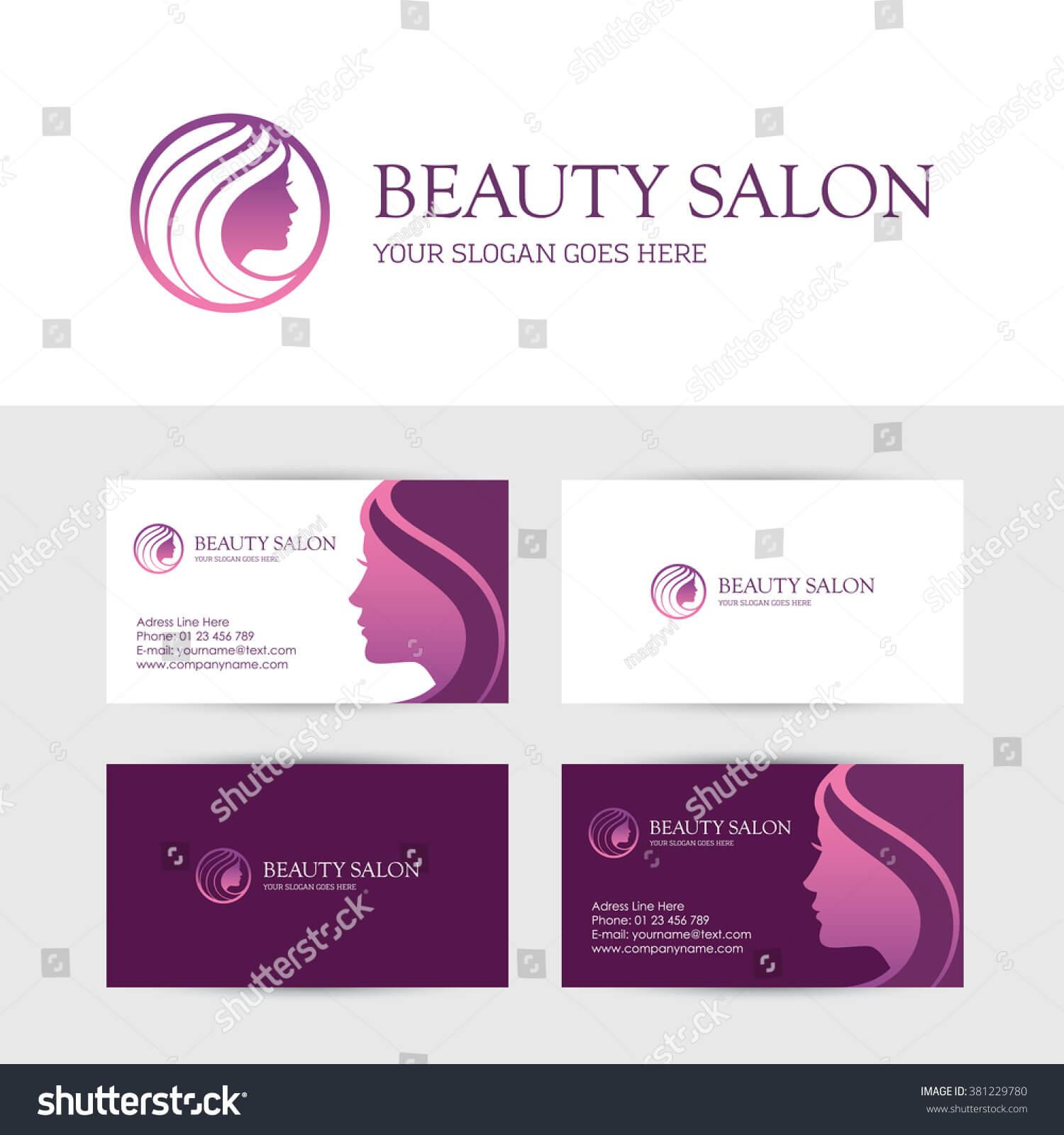 Logo Business Card Design Templates Beauty | Royalty Free Inside Hair Salon Business Card Template