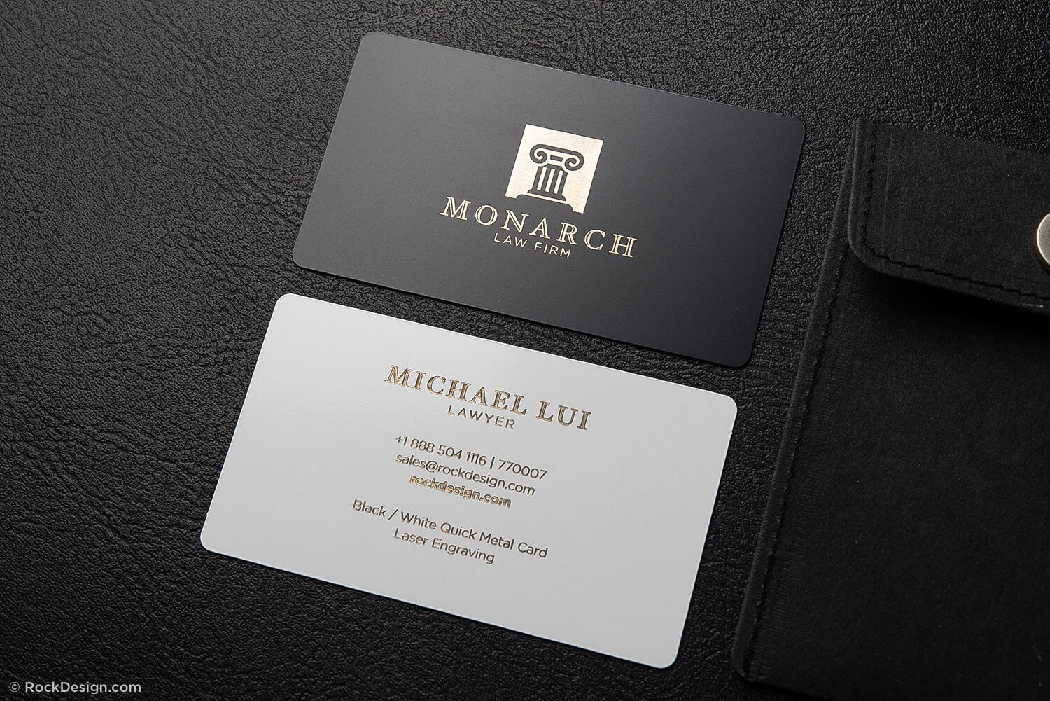 Luxury Metal Law Firm Free Black And White Business Card Within Free Complimentary Card Templates