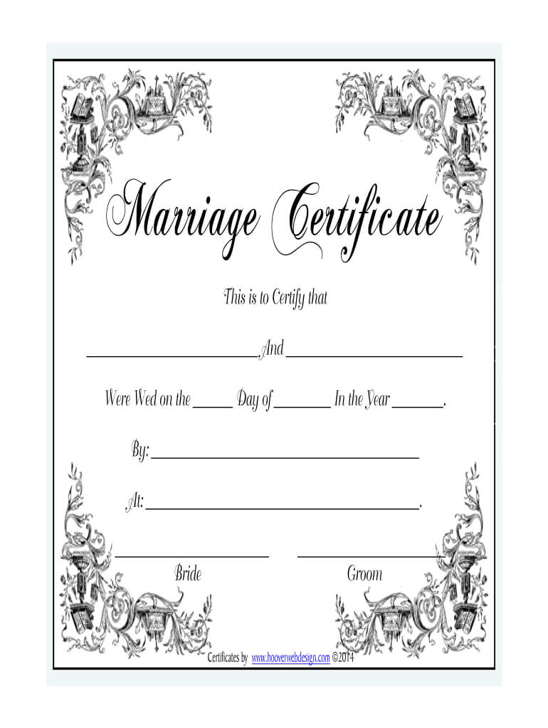 Marriage Certificate - Fill Online, Printable, Fillable Intended For Blank Marriage Certificate Template