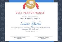 Math Contest - Certificate Template - Visme inside Math Certificate Template