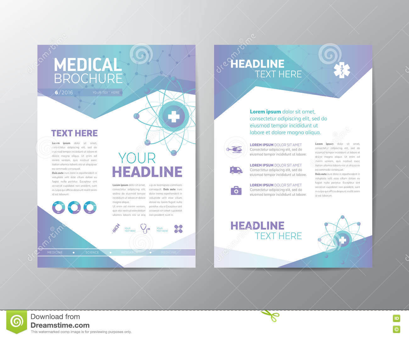 Medical Brochure – Leaflet Stock Vector. Illustration Of Pertaining To Healthcare Brochure Templates Free Download