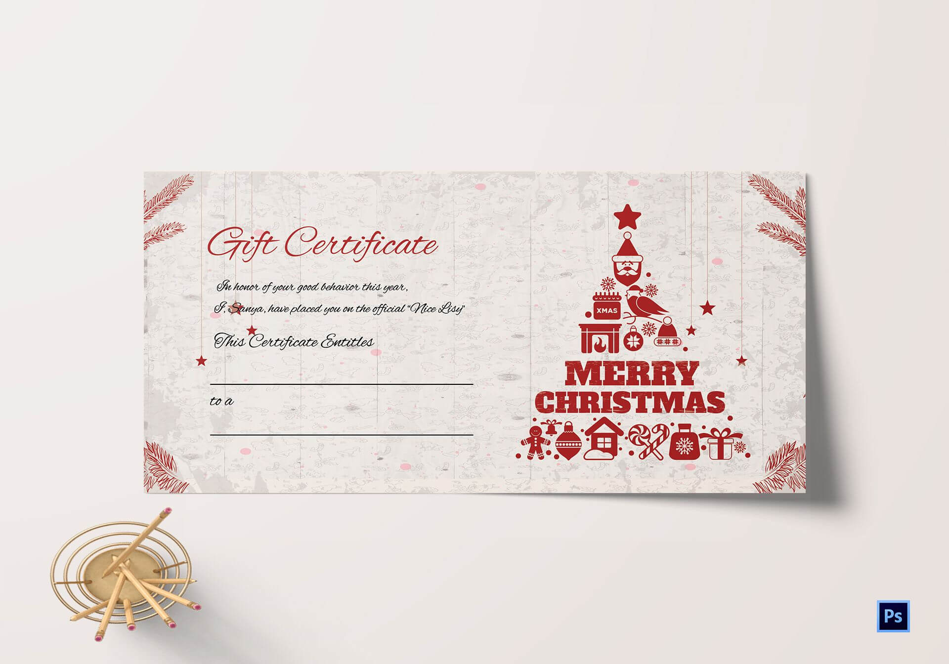 Merry Christmas Gift Certificate Within Merry Christmas Gift Certificate Templates