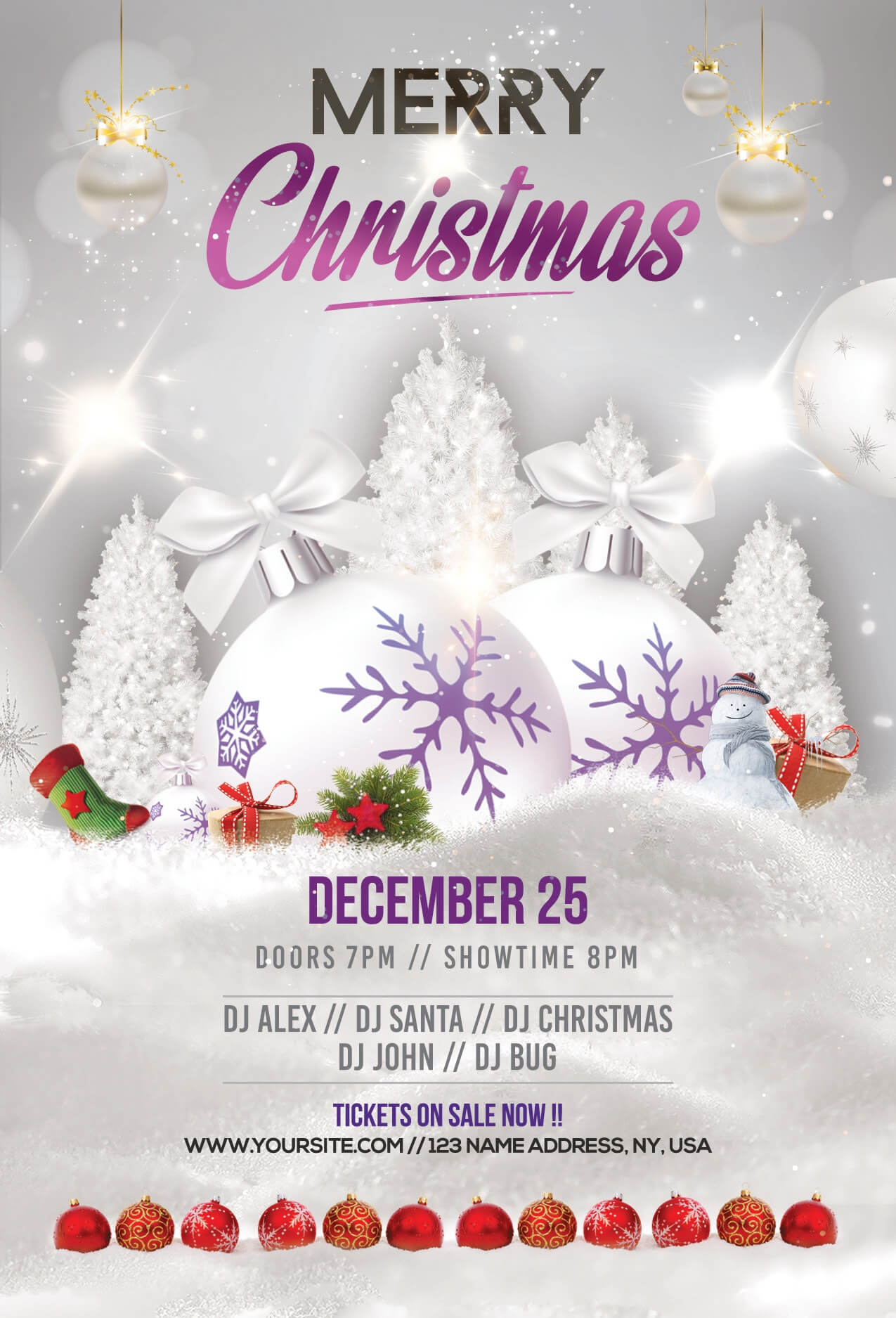 Merry Christmas & Holiday Free Psd Flyer Template - Free Psd Inside Christmas Brochure Templates Free