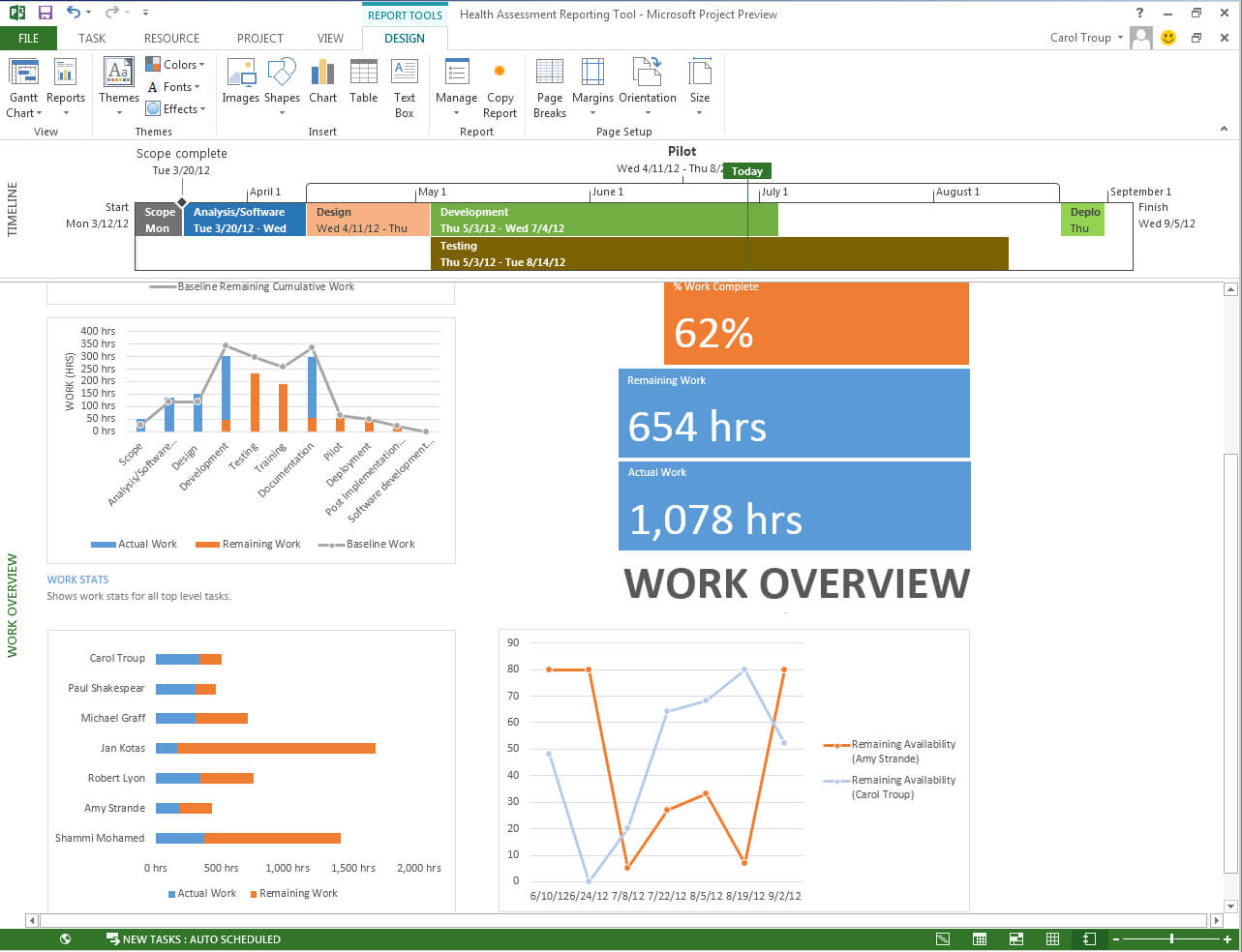 Microsoft Office Project Template - Zohre.horizonconsulting.co For Ms Project 2013 Report Templates