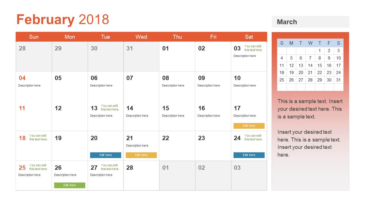 Microsoft Powerpoint Calendar Template - Zohre In Microsoft Powerpoint Calendar Template