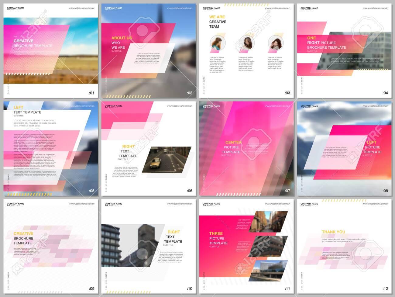 Minimal Brochure Template With Unique Fresh Colorful Geometric.. Regarding Social Media Brochure Template