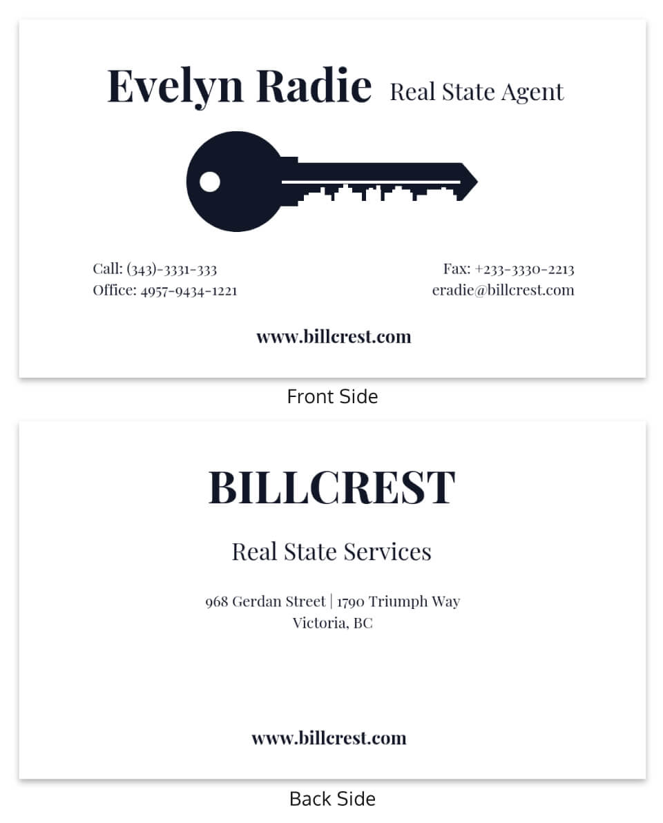 Minimal Real Estate Business Card Template For Dog Grooming Record Card Template