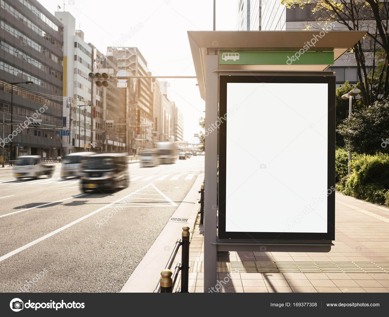 Mock Up Banner Template At Bus Shelter Media Outdoor Display Pertaining To Street Banner Template