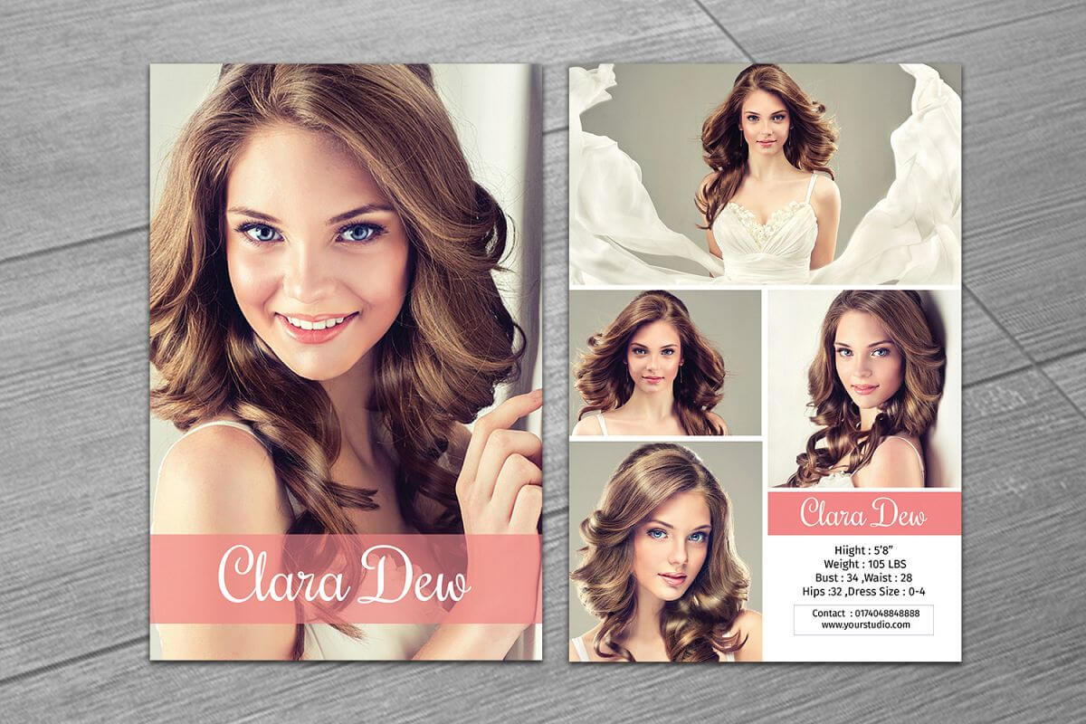 Modeling Comp Card Template, Ms Word & Photoshop Template With Zed Card Template