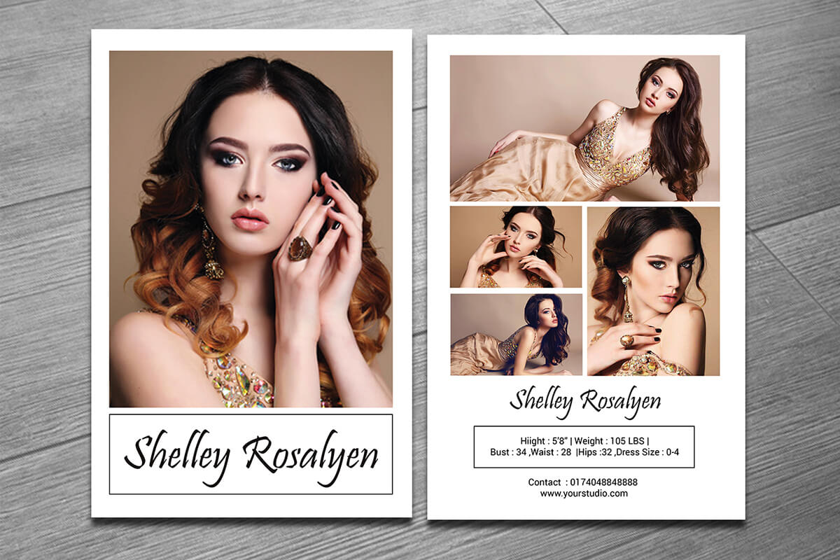 Modeling Comp Card Template On Behance With Zed Card Template