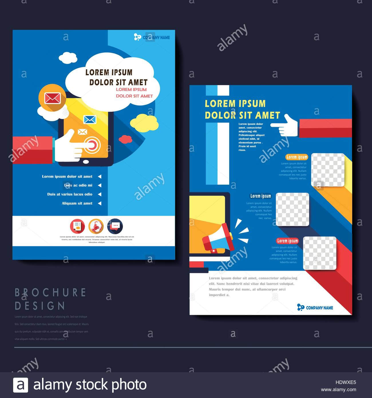Modern Flat Design Flyer Template For Social Media Concept In Social Media Brochure Template