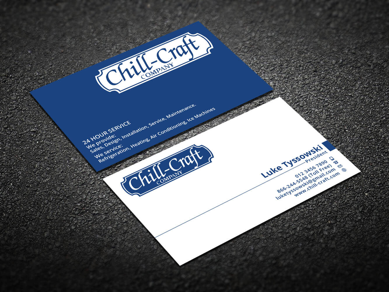 Modern, Professional, Hvac Business Card Design For Chill With Hvac Business Card Template