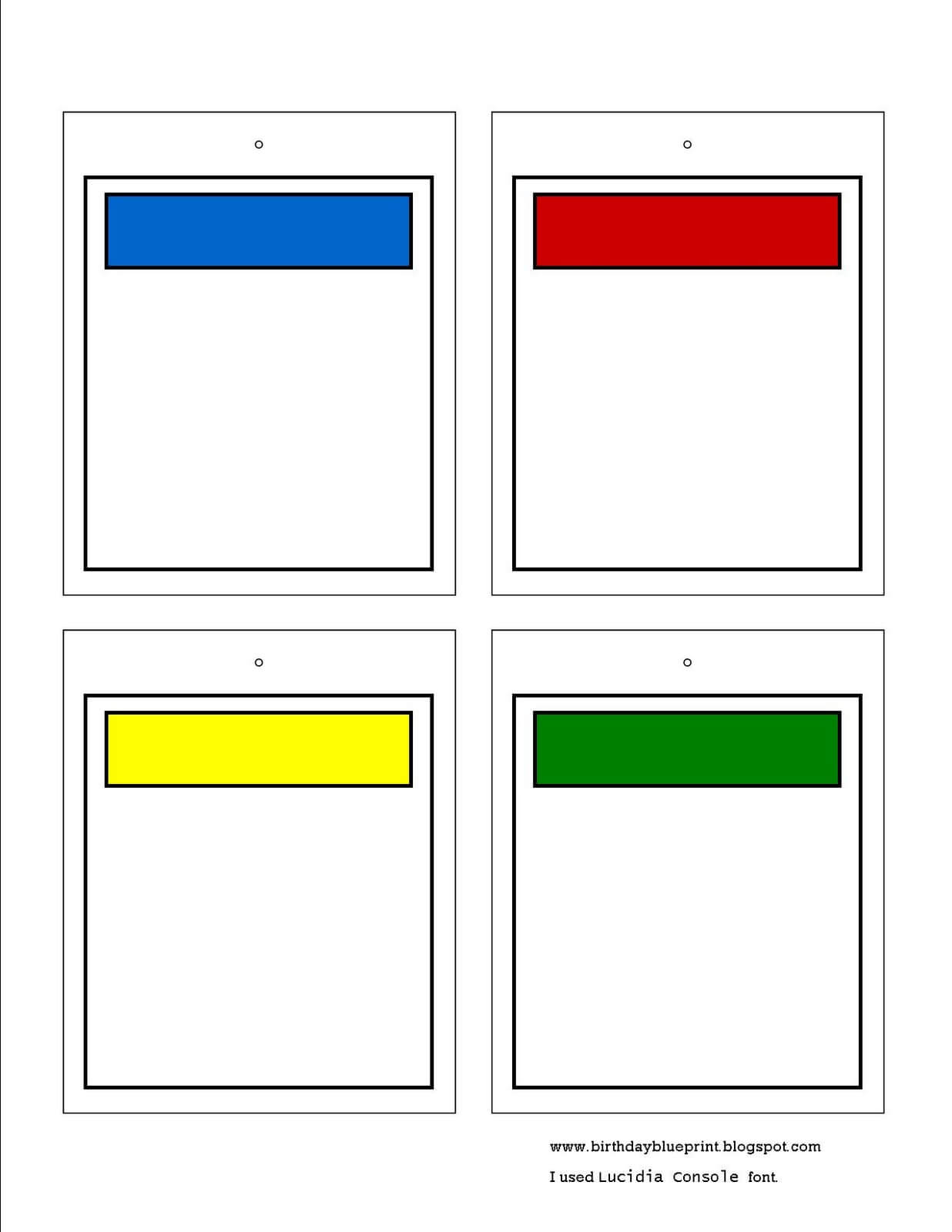 Monopoly Card Template Word – Brilean Within Monopoly Property Card Template