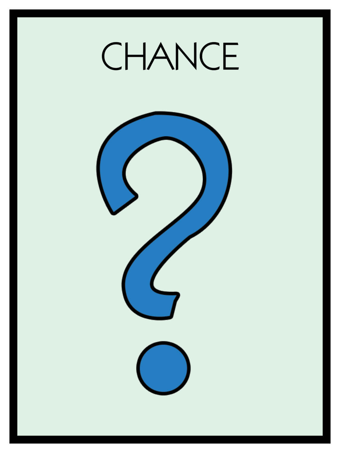 Monopoly Chance Cards Template ] - Card Template 187 In Chance Card Template