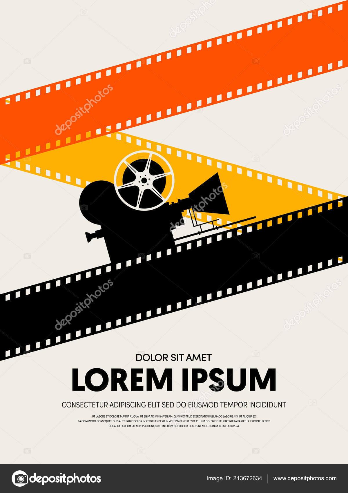 Movie Film Festival Poster Template Design Modern Retro In Film Festival Brochure Template