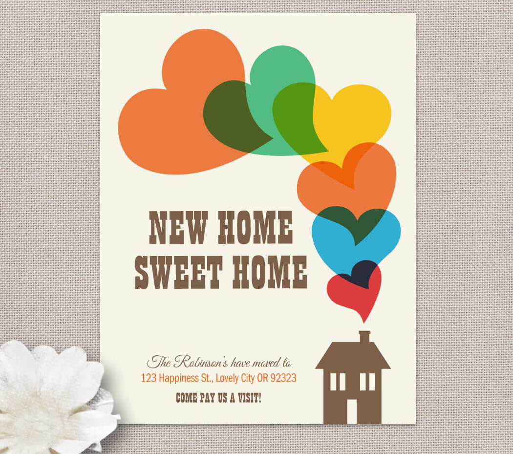 Moving Home Cards Template ] - Change Of Address New House Pertaining To Moving Home Cards Template