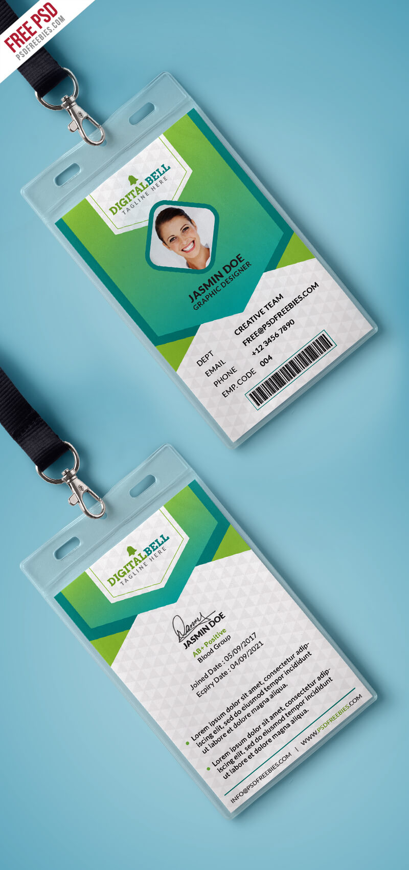 Multipurpose Photo Identity Card Template Psd ...