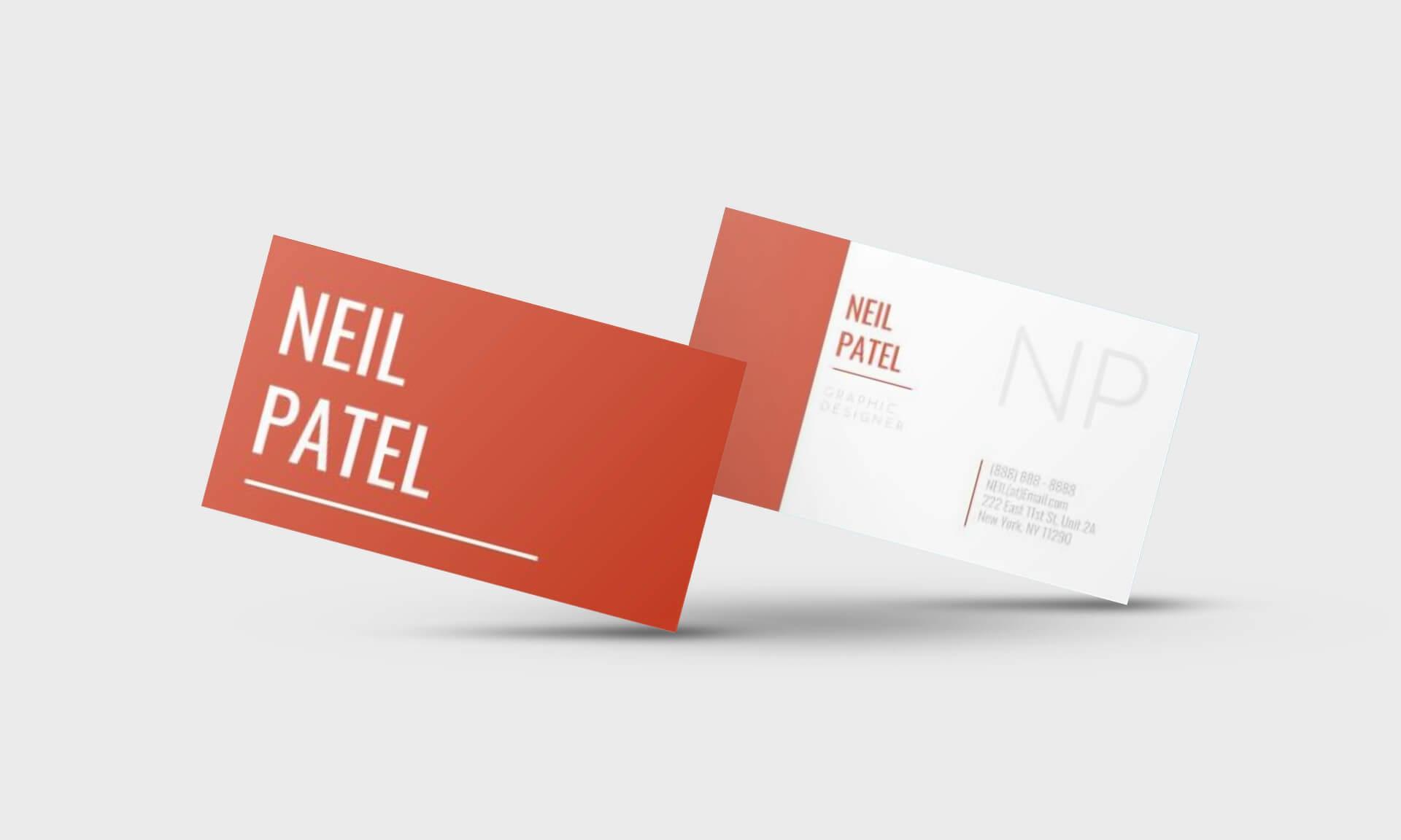 Neil Patel Google Docs Business Card Template - Stand Out Shop In Google Docs Business Card Template