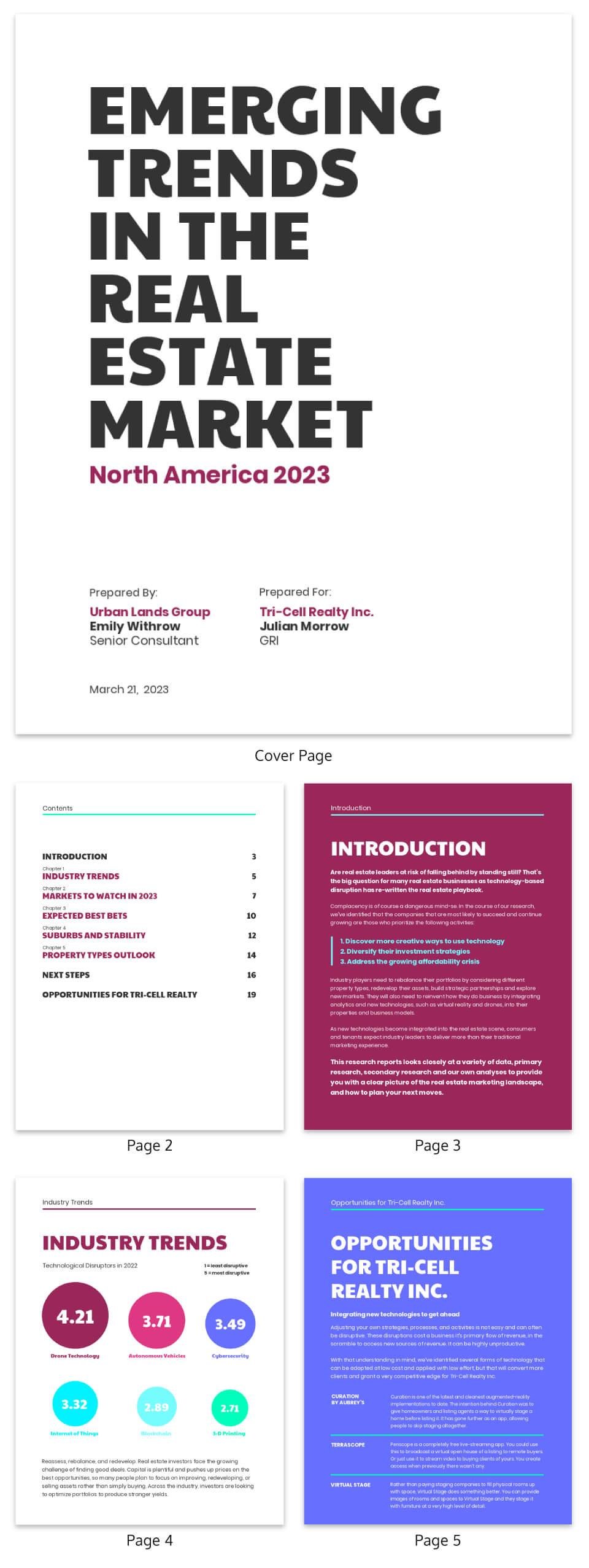 Neon Real Estate Market Industry Report Template With Regard To Real Estate Report Template