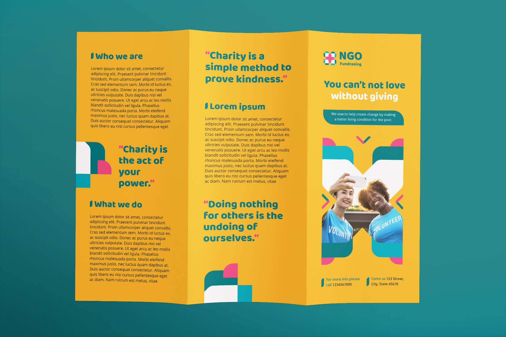 Ngo Templates Suite On Behance With Regard To Ngo Brochure Templates