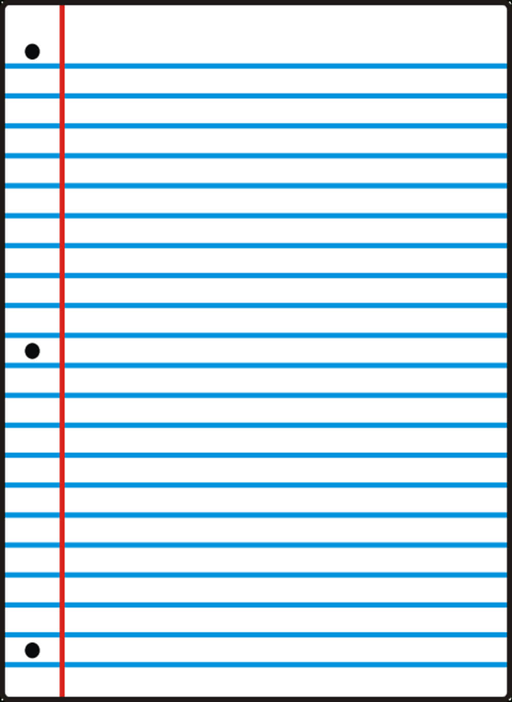 Notebook Paper Template For Word - Clip Art Library Intended For Notebook Paper Template For Word