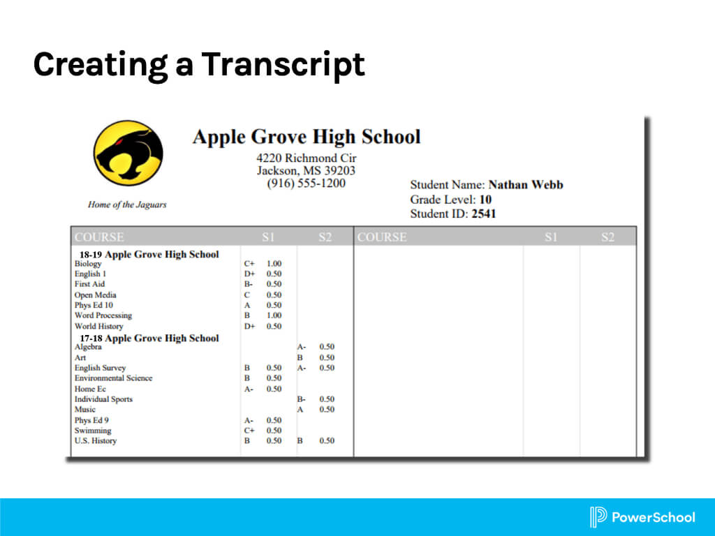 Object Reports 3: Report Cards And Transcripts Intended For Powerschool Reports Templates