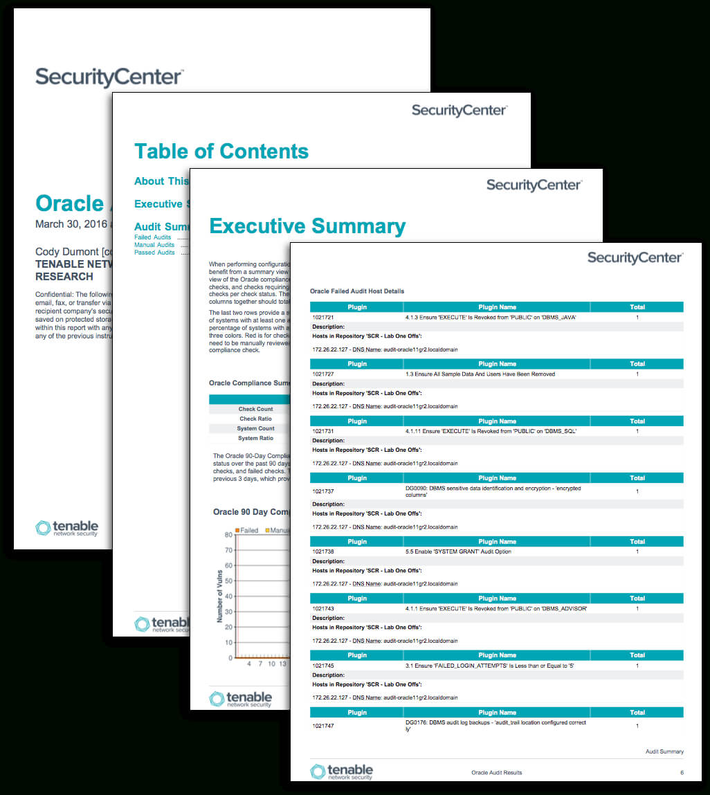 Oracle Audit Results - Sc Report Template | Tenable® In Data Center Audit Report Template
