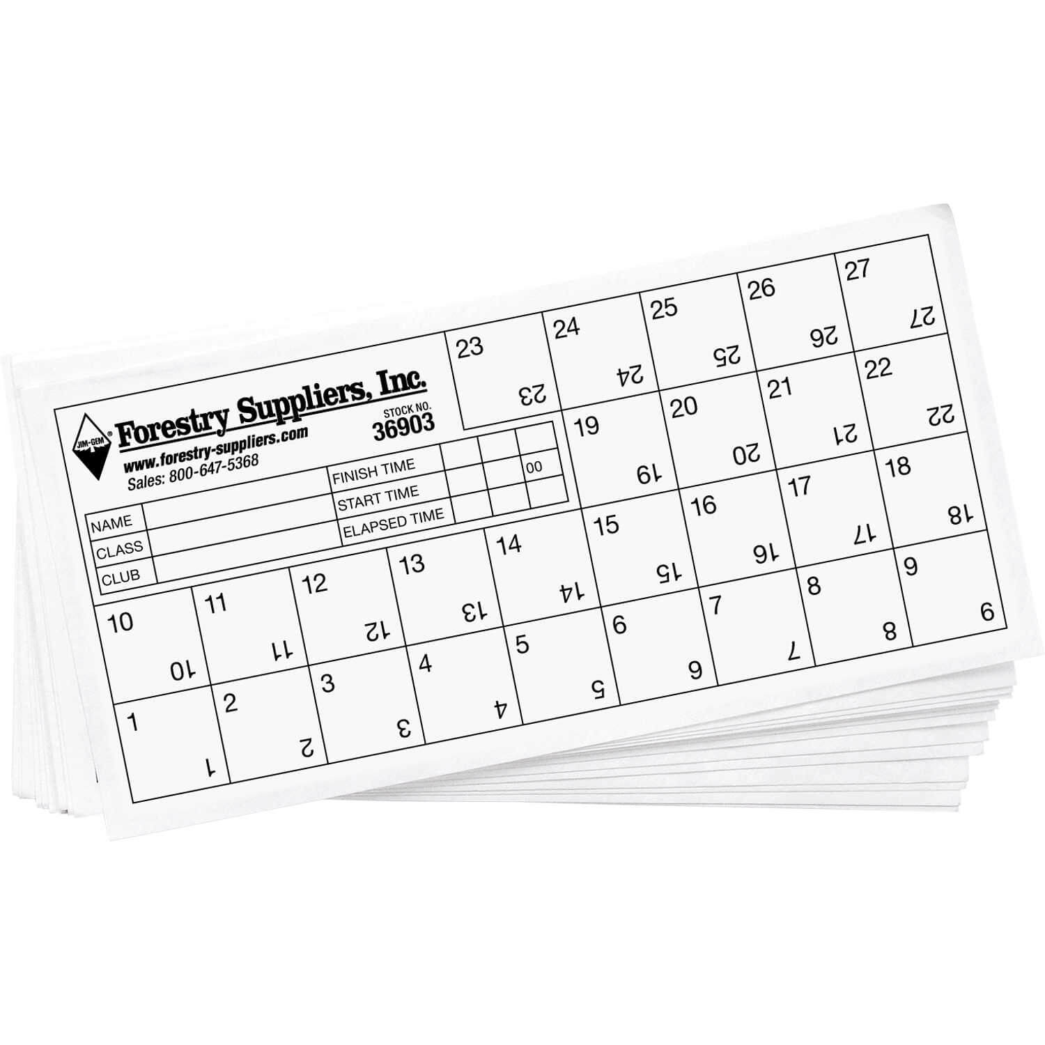 Orienteering Control Cards, Pack Of 25 | Forestry Suppliers Within Orienteering Control Card Template