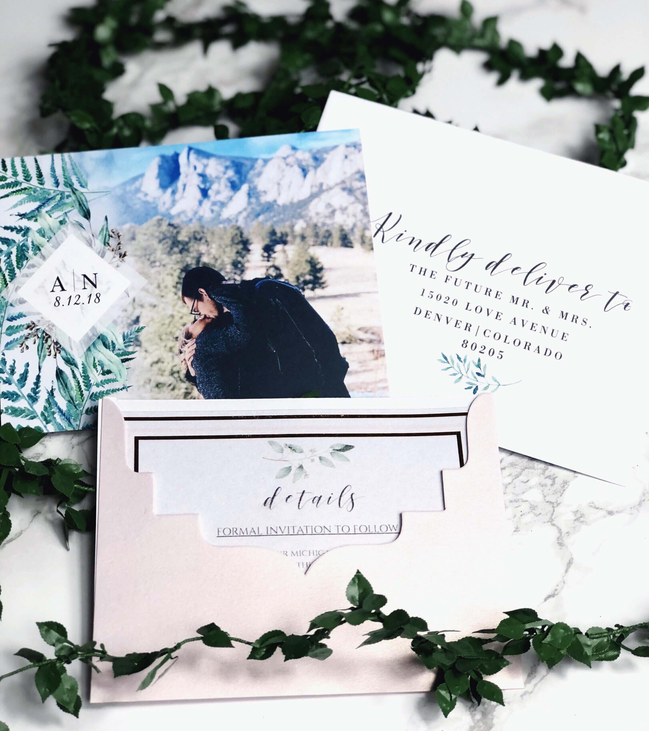 Our Save The Dates! Photo From Vistaprint, Envelope Intended For Michaels Place Card Template