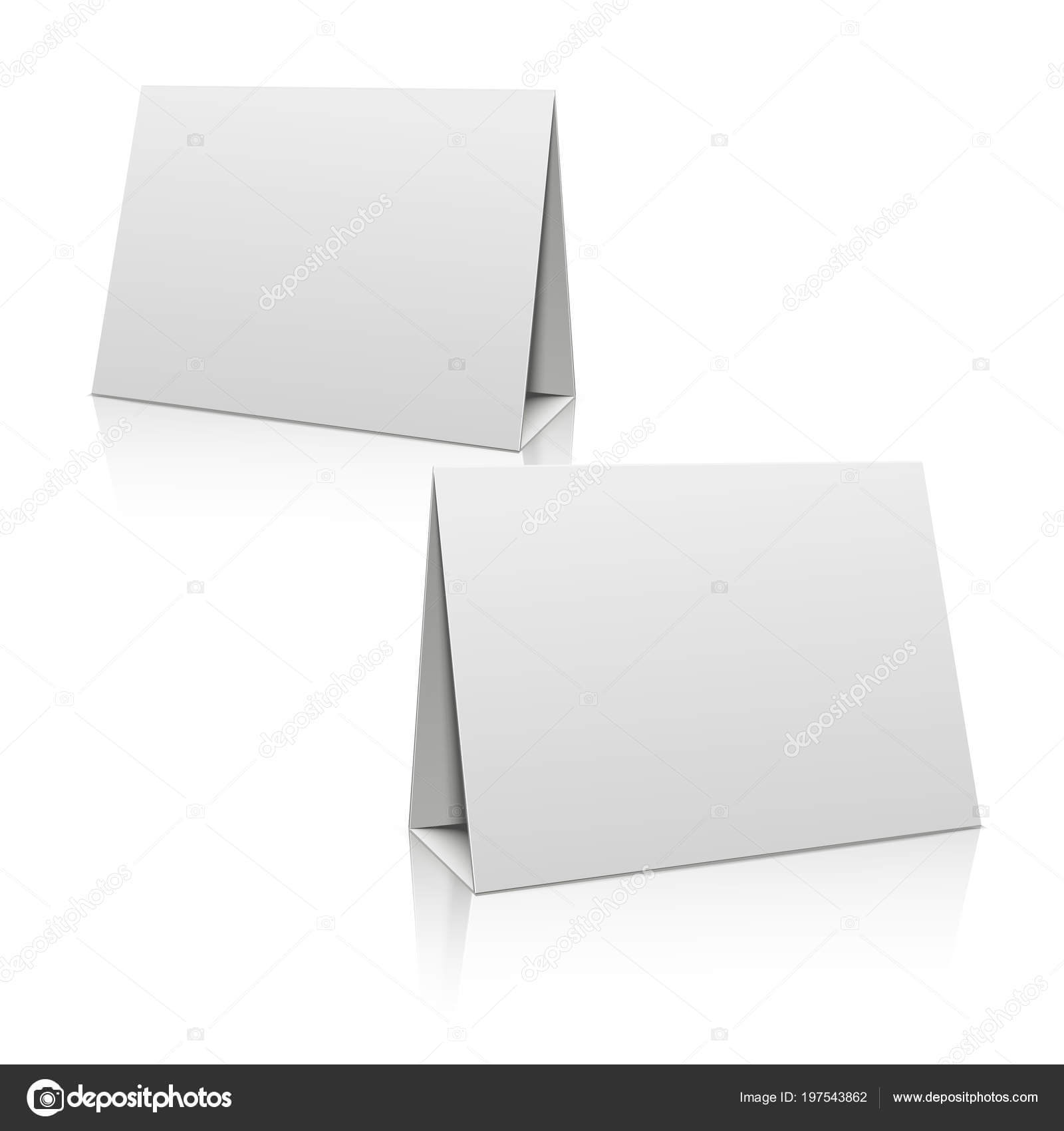 Paper Stand Template | Blank White Paper Stand Table Holder Inside Card Stand Template