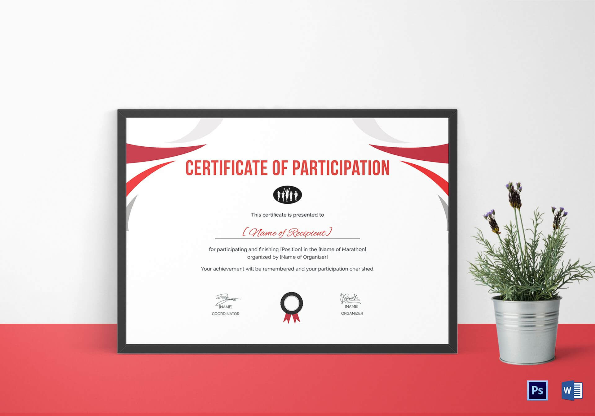 Participation Certificate For Running Template Within Running Certificates Templates Free