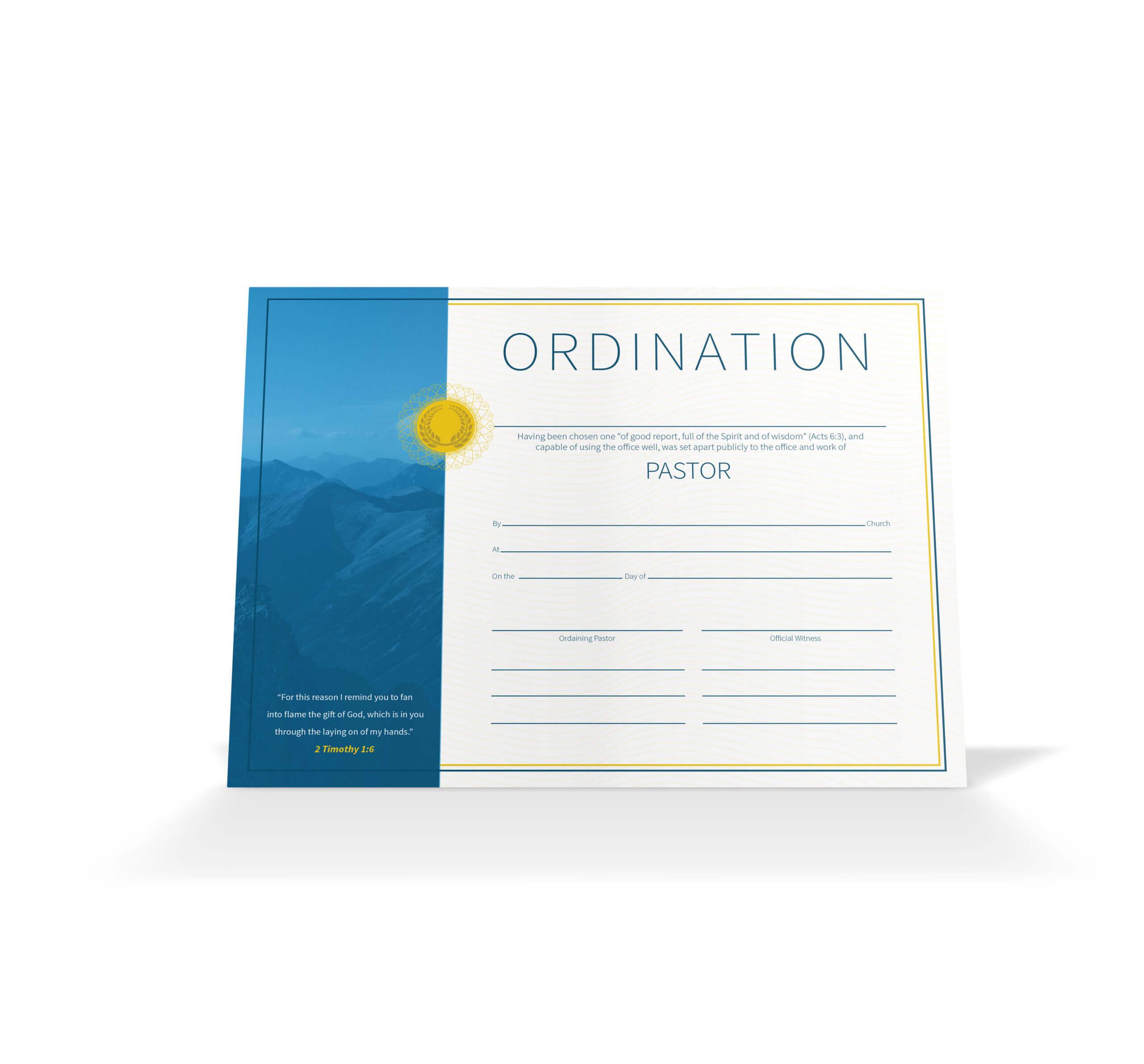 Pastor Ordination Certificate – Vineyard Digital Membership Throughout Ordination Certificate Template
