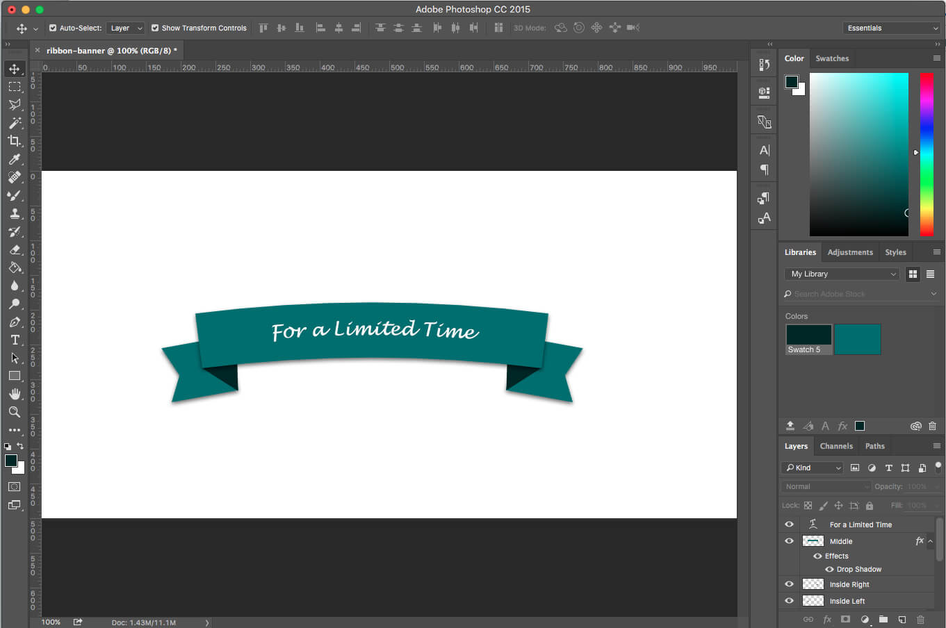 Photoshop Tutorial: How To Create A Ribbon Banner In Adobe Photoshop Banner Templates